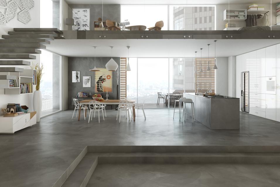 Pavimenti in cemento nel 2019 interior design per la for Interni colorati casa