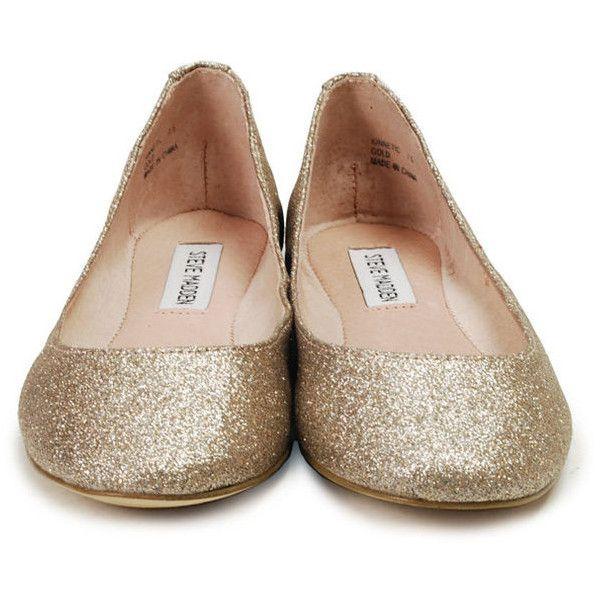 Steve Madden Kinnetic Gold Glitter Flat   Glitter flats, Gold glitter shoes,  Gold shoes flats