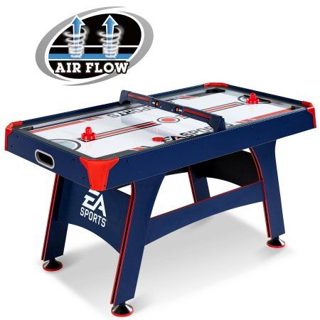 Espn 60 Air Powered Hockey Table Overhead Electronic Scorer Blue Red 5 Foot Air Hockey Walmart Com Air Hockey Table Air Hockey Air Hockey Tables