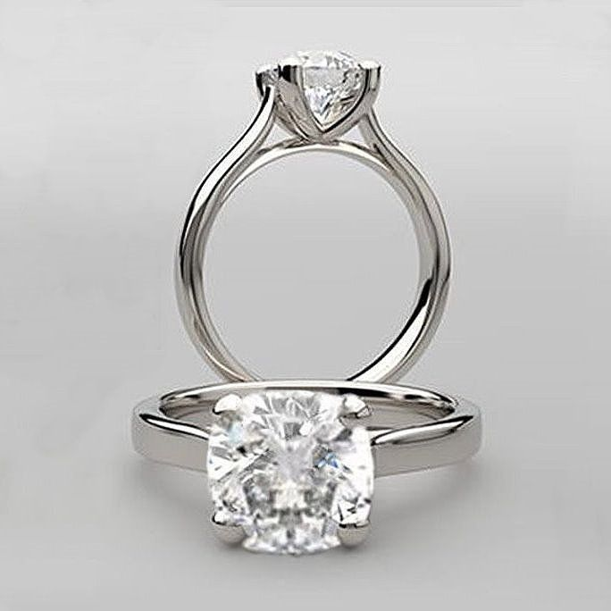 6665812cb29fc 1.50 ct antique square cushion cut sculptured cathedral solitaire ...
