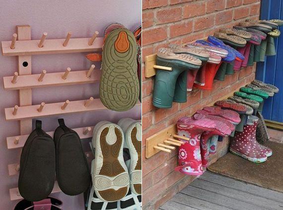 kreative-Wohnideen-für-Schuhregal-selber-bauen DIY Pinterest