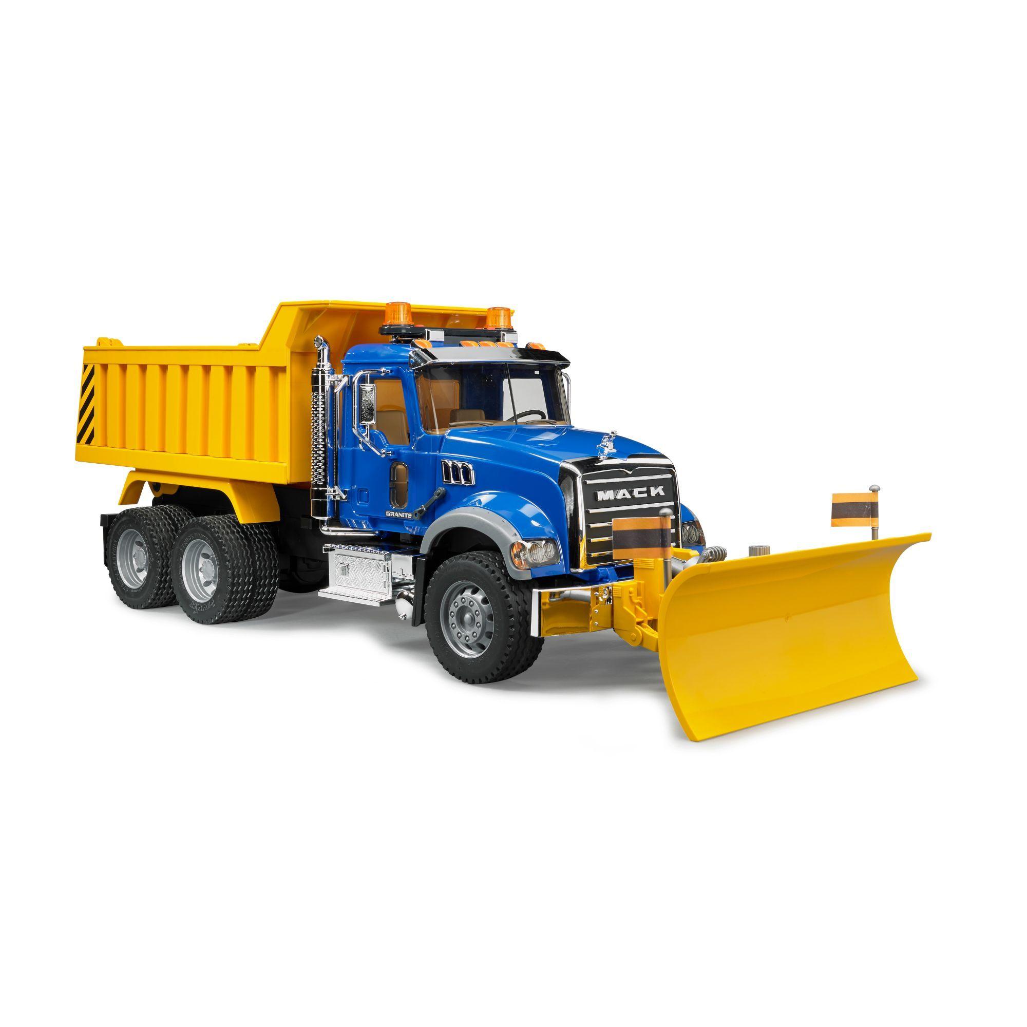 Bruder Mack Granite Dump Truck With Snow Plow Blade Walmart Com In 2020 Trucks Snow Plow Toy Trucks