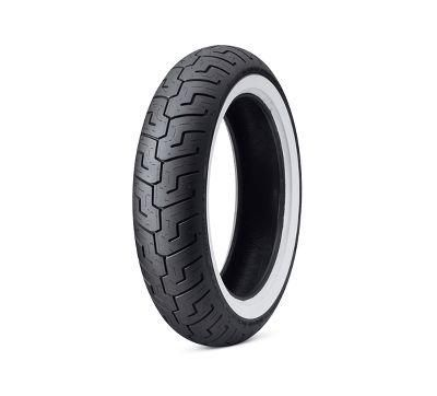 Wide white wall motorcycle tires