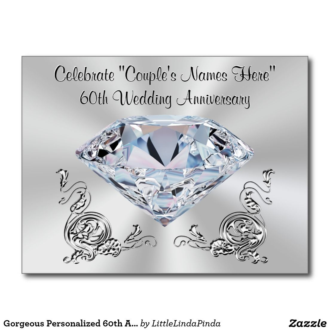 Gorgeous Personalized 60th Anniversary Invitations   Pinterest ...