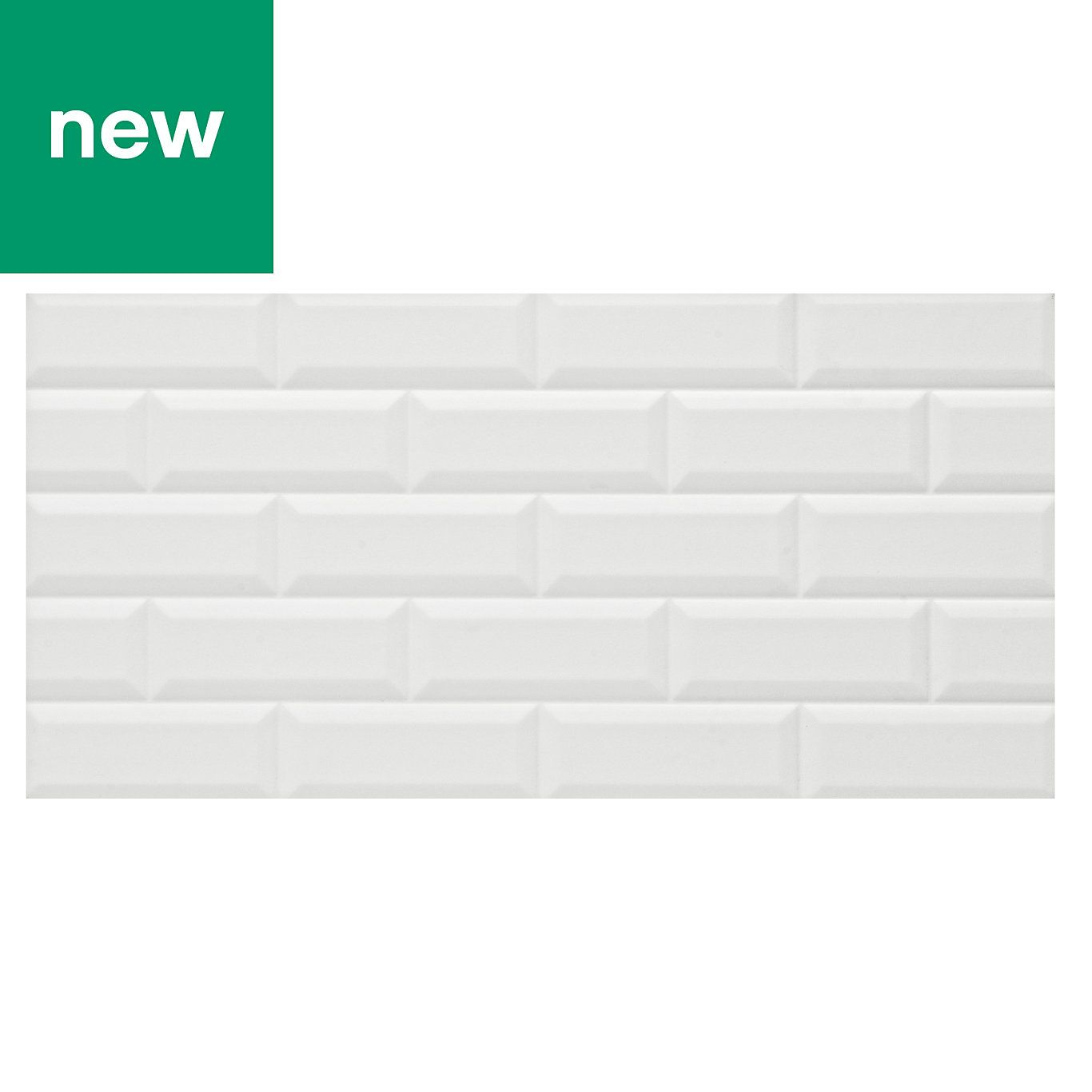 Millennium White Brick Effect Ceramic Wall Tile Pack Of 6 L 600mm W 300mm Ceramic Wall Tiles Wall Tiles White Brick