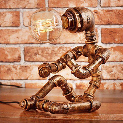 Vintage Industrial Tischlampe Steampunk Tischleuchte Rustikale