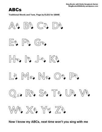 Abcs The Alphabet Song Illustrated Poster And Collage By Emily
