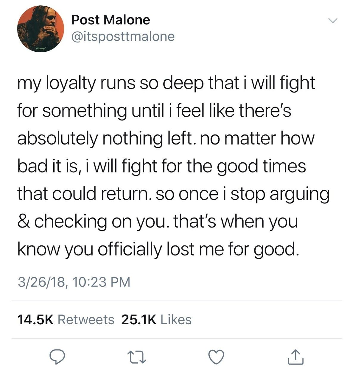 Post Malone's Realest Tweets