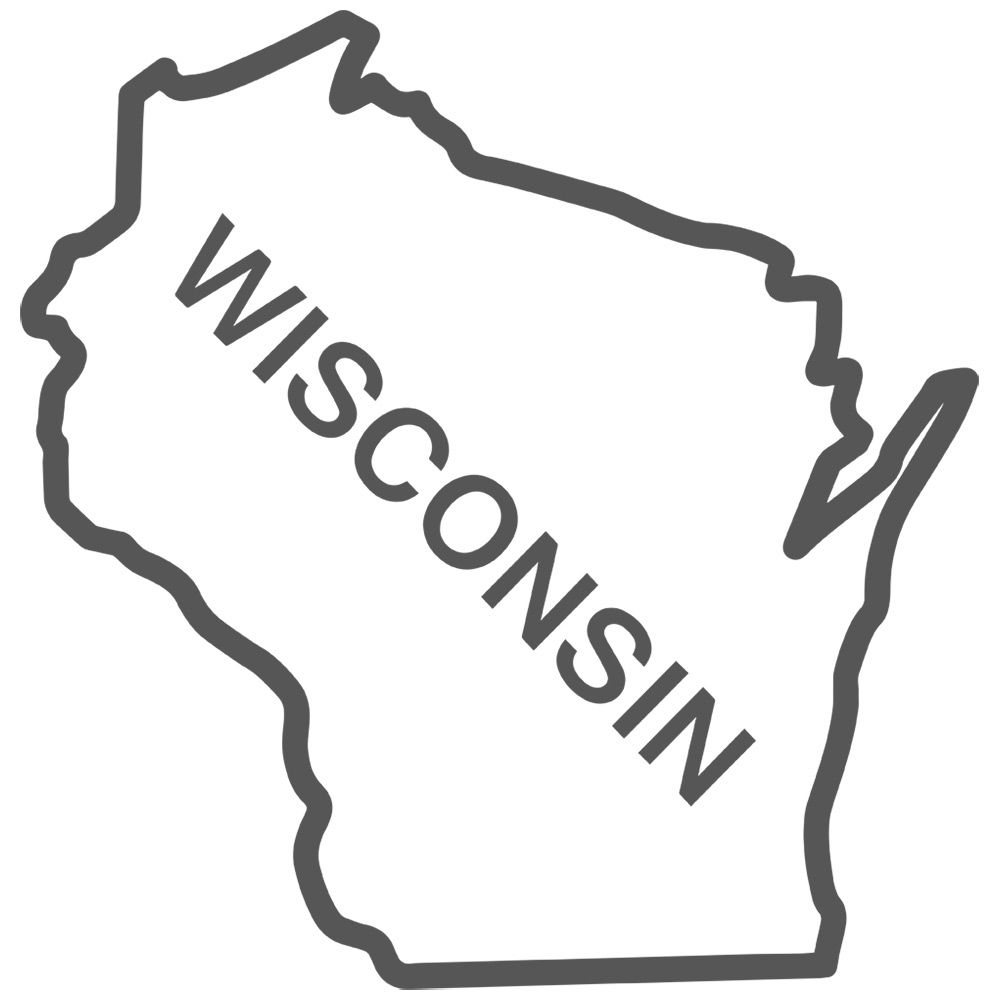Wisconsin State Outline Decal Sticker 2095 Decals For Car Window