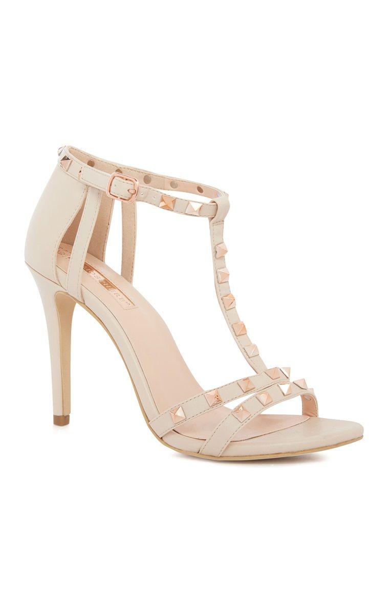 bfc5c6124b Primark - Nude Studded Heels | Primark | Studded heels, Primark ...