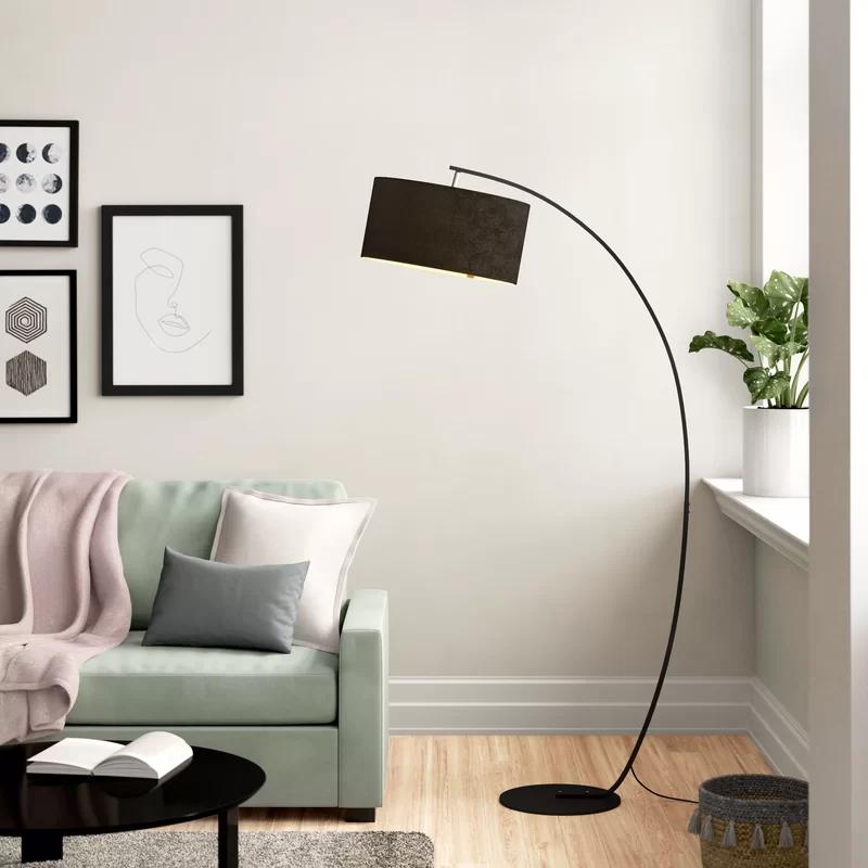 Zipcode Design Lottie 183cm Arched Floor Lamp Reviews Wayfair Co Uk Arched Floor Lamp Floor Lamps Living Room Modern Standing Lamp Living Room