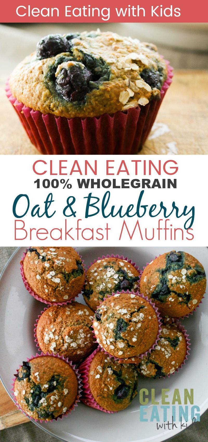 Clean Eating Oat Bran Blueberry Muffins - Clean Eating with kids -   17 desserts Blueberry clean eating ideas