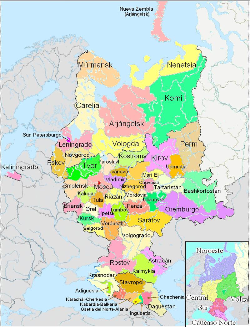 European Russia - Russia europea - Wikipedia | Russia map ...