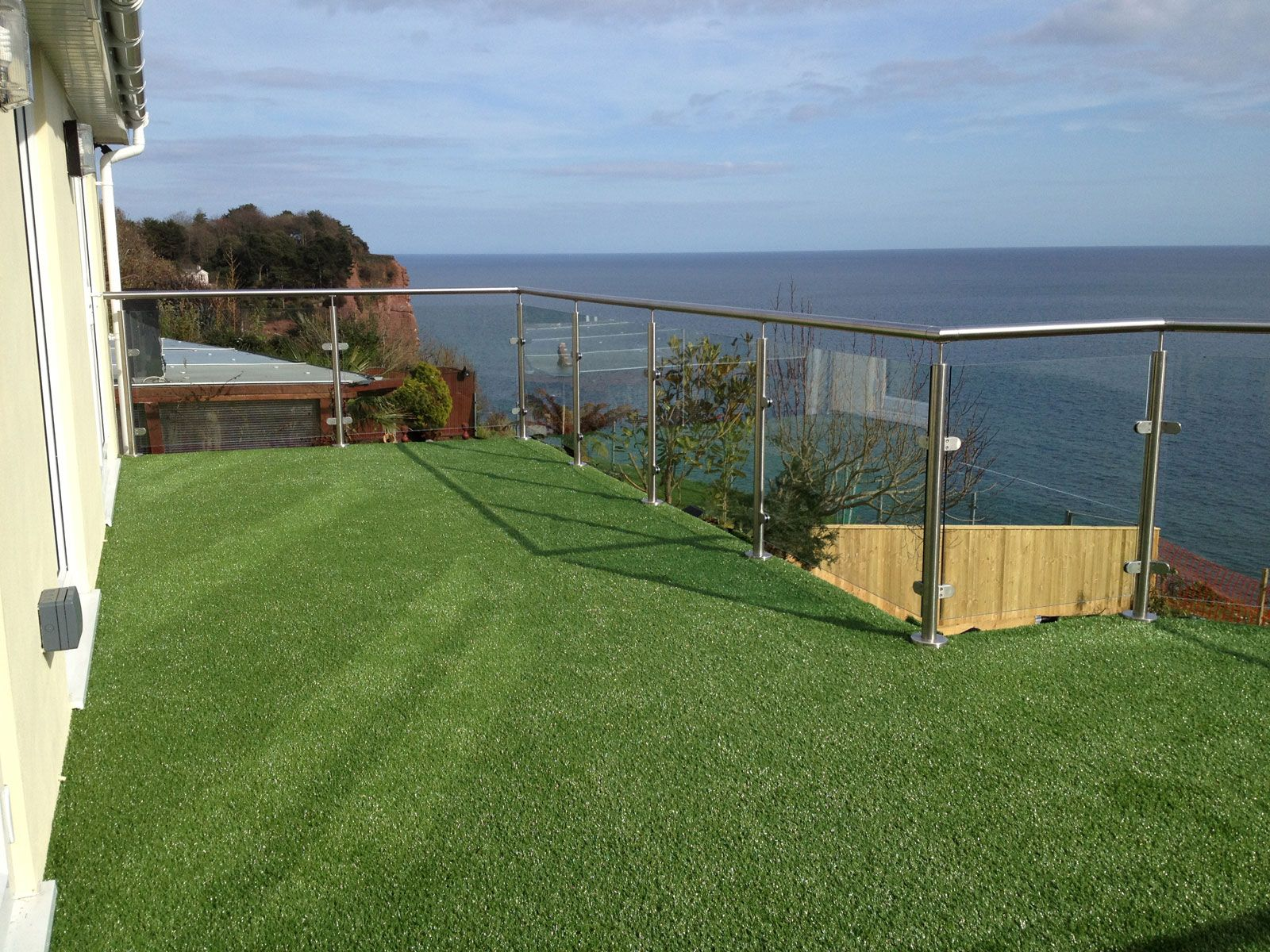 artificial grass balcony Deck Pinterest