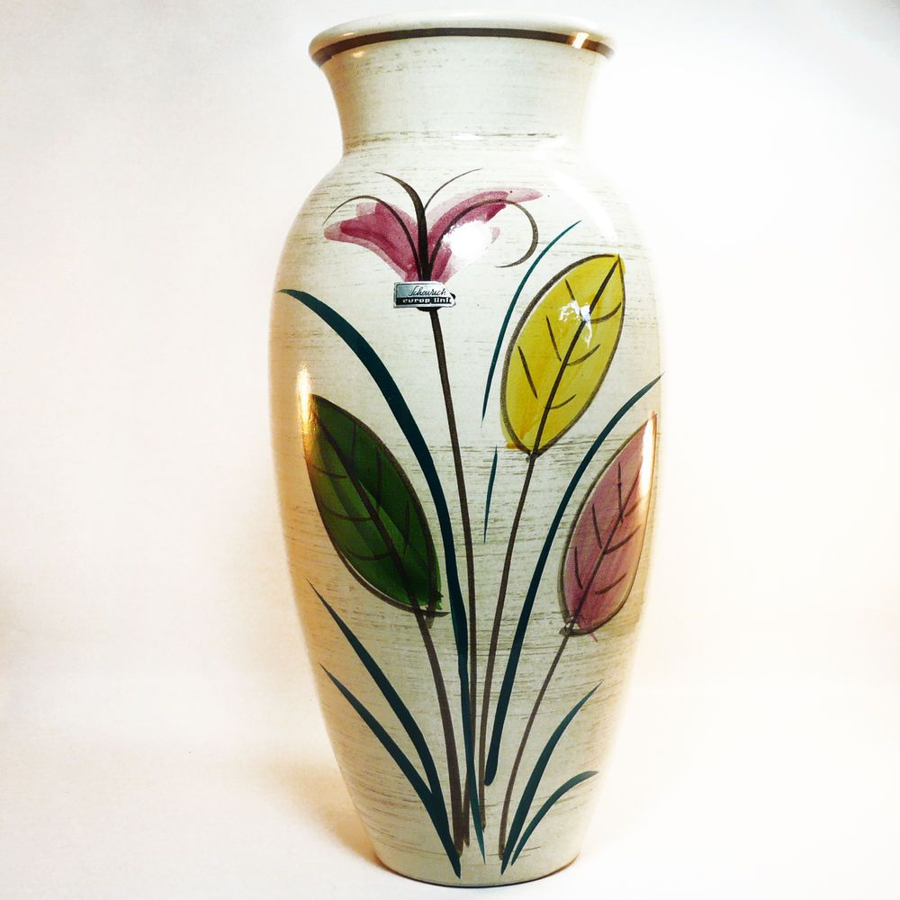Xxl West German Pottery Floor Vase Bodenvase Scheurich