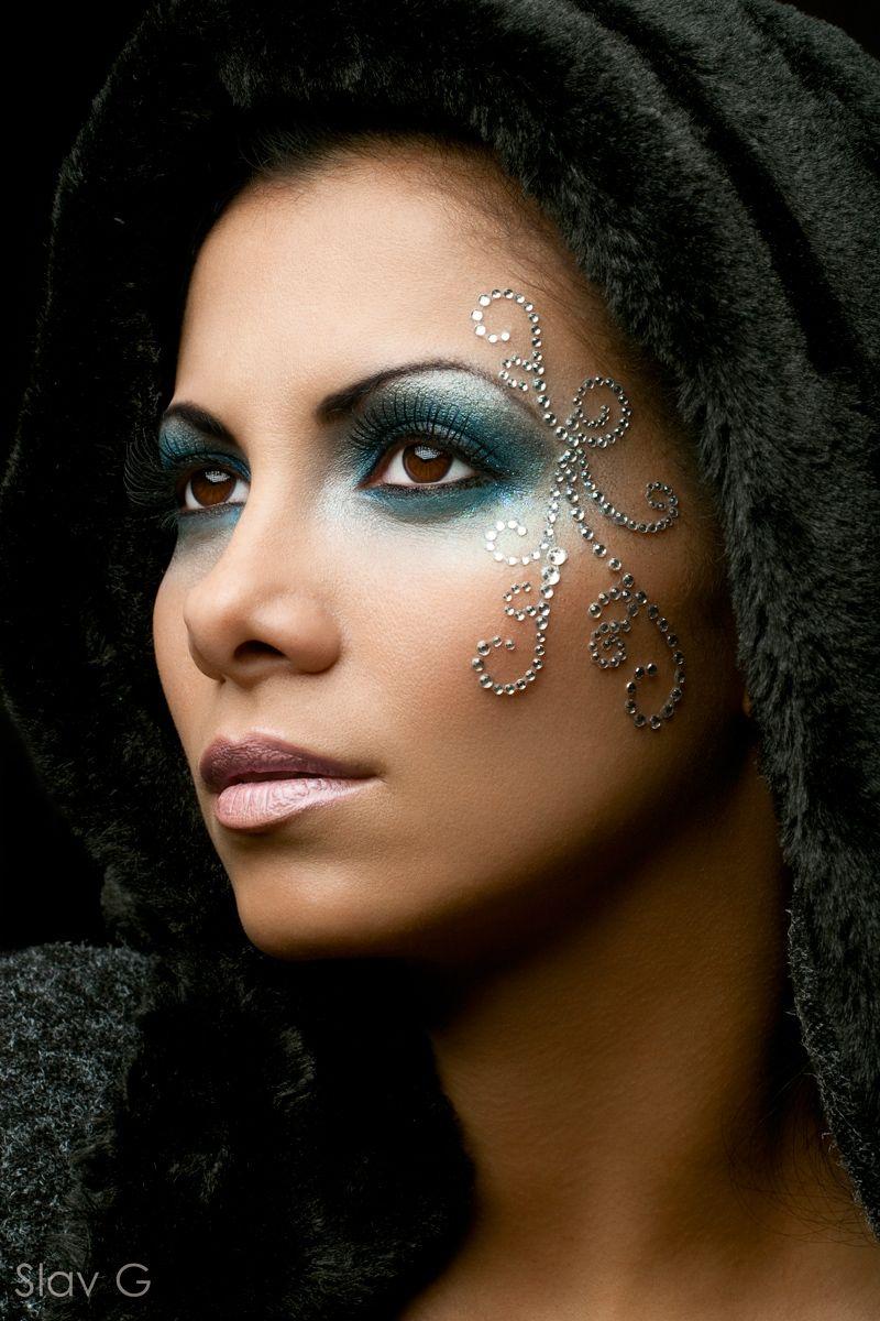 Cristales Cristales Cristales Van A Dar Mucho Que Hablar Fantasy Make Up Kreatives Makeup Karnevalsschminke