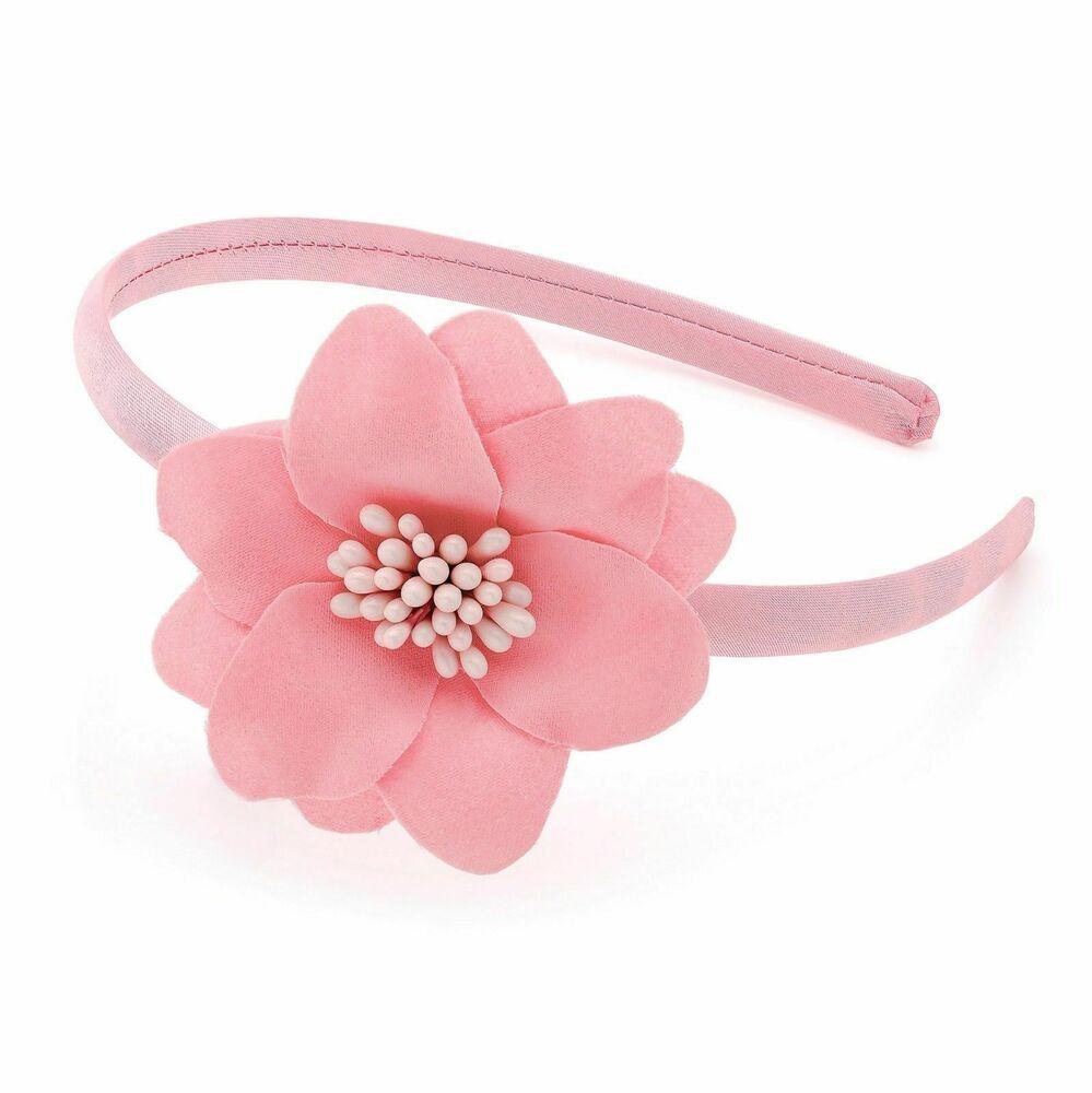 Head band small Flower Cream Ivory White girls hair accessory infant junior