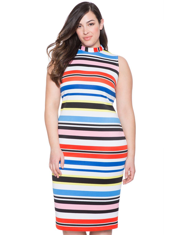 6abf5e6603 Striped Neoprene Dress