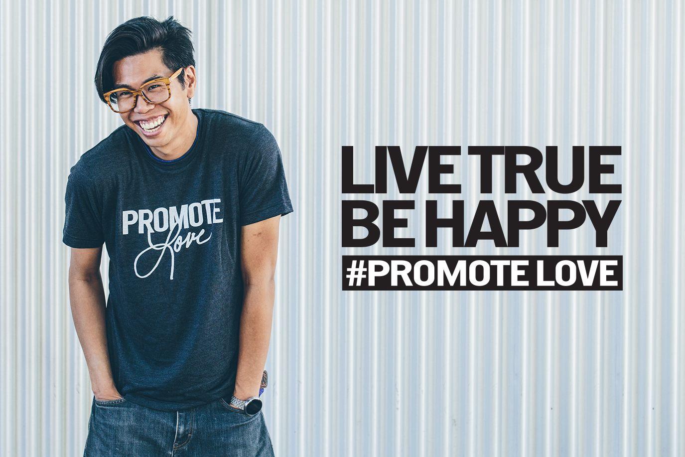live true, be happy shirt in medium