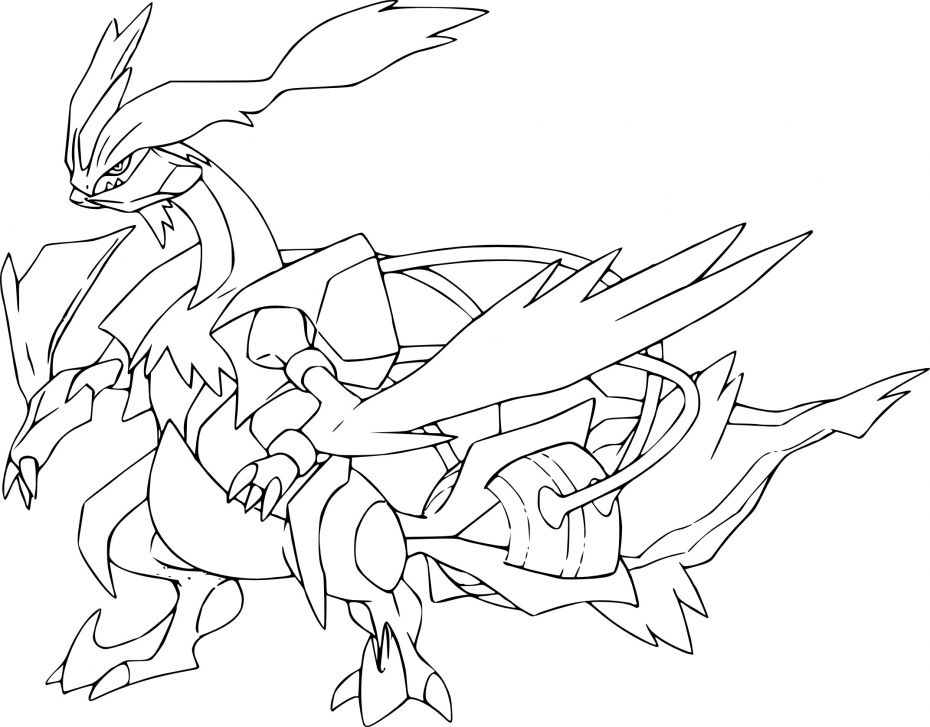 Coloriage Pokemon Legendaire Kyurem Coloring Pages Pokemon Pokemon White