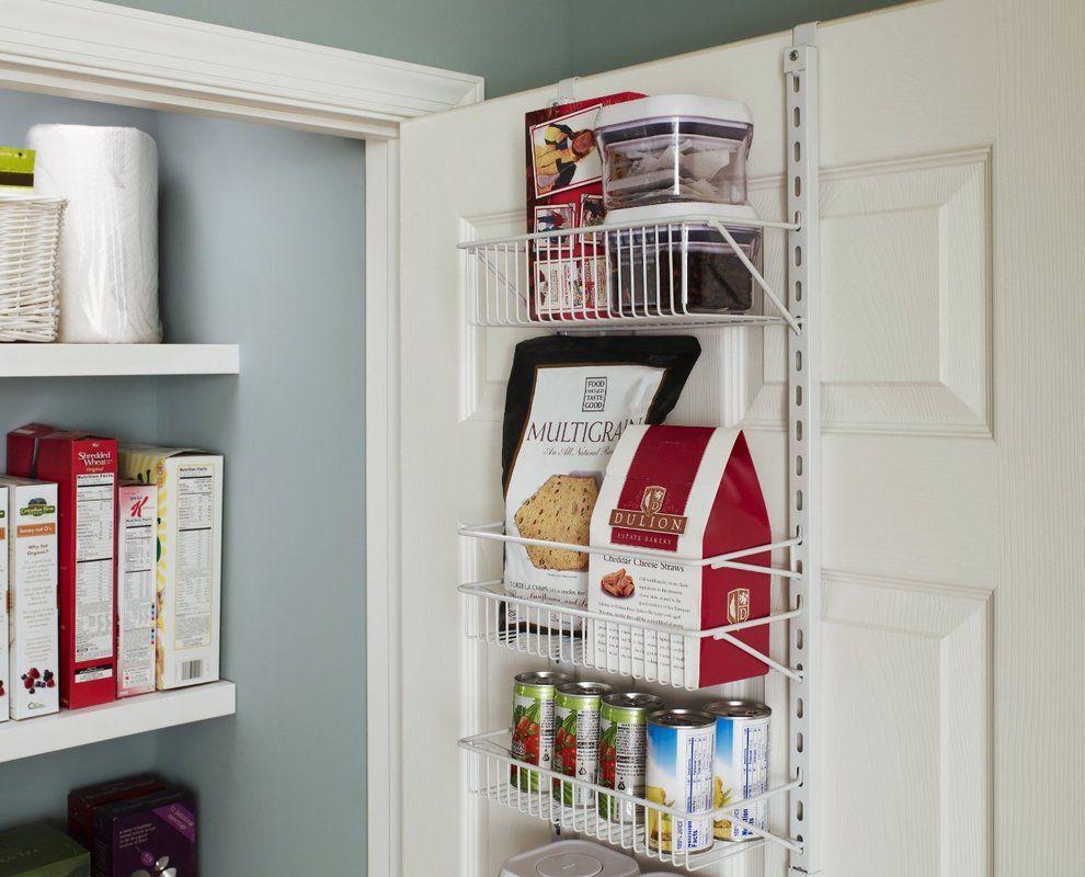 Closetmaid 8 Tier Adjustable Cabinet Door Organizer Reviews Wayfair Pantry Door Storage Door Organizer Door Storage