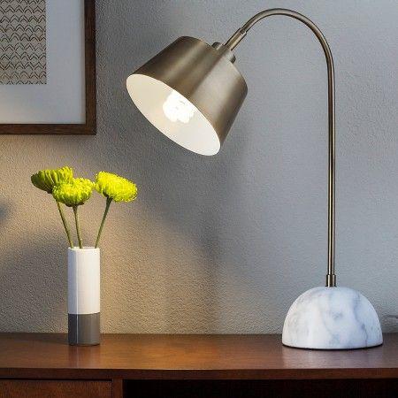 Threshold™ Brass Task Lamp with White Marble Base : Target | Desk ...