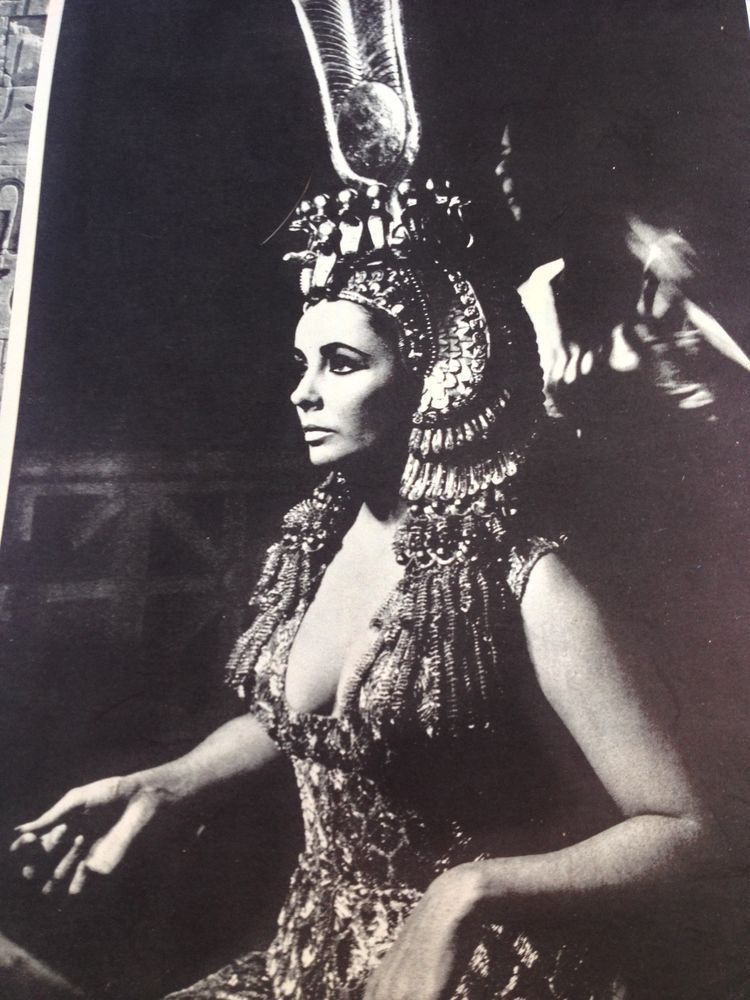 Elizabeth Taylor Magazine Page Clipping Cleopatra and her