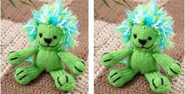 Lively Leon Knitted Toy Lion [FREE Knitting Pattern ...