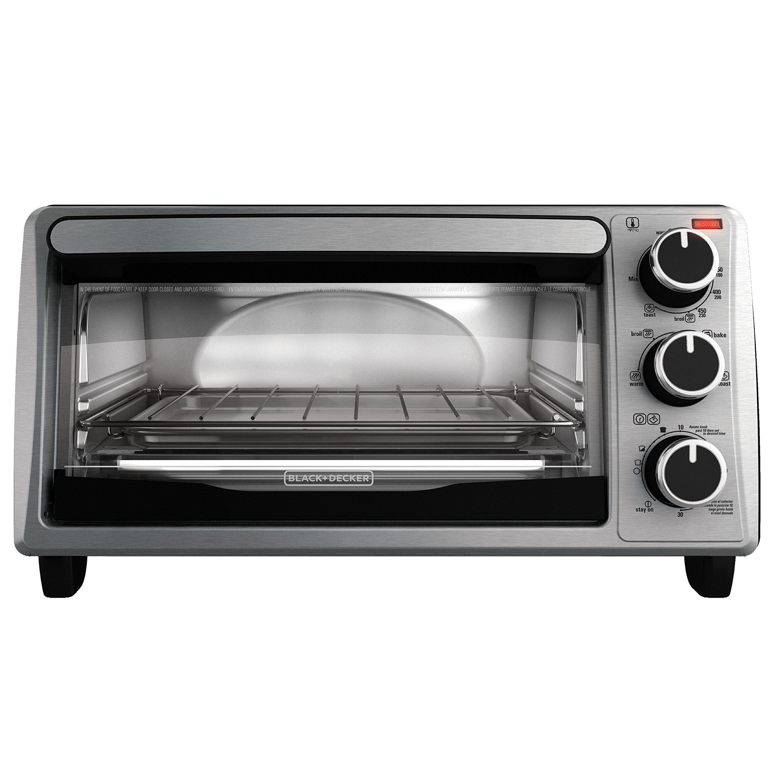 Amazon Com Black Decker To1303sb 4 Slice Toaster Oven Includes