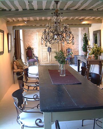 Provence #dining room in the luxurious Bastide de Marie hotel and