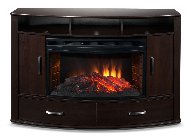 Snyder Entertainment Wall Units Fireplace Credenza - Leon's #LeonsKrisKringle