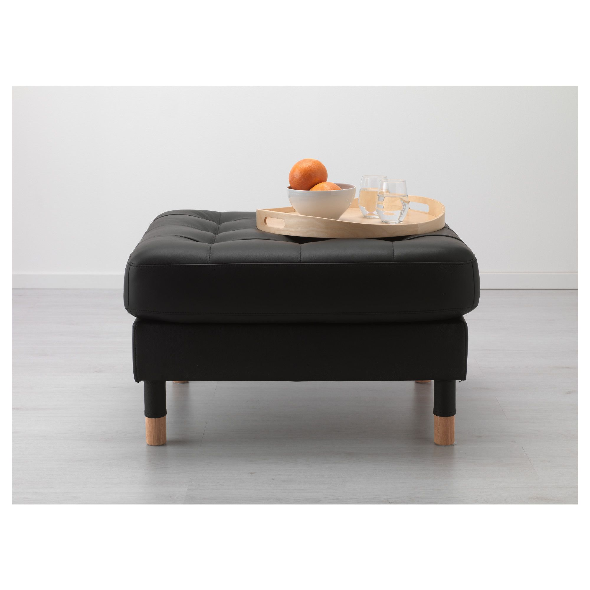 Outstanding Ikea Landskrona Footstool Grann Bomstad Black Wood Creativecarmelina Interior Chair Design Creativecarmelinacom
