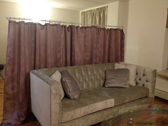 Designate A Sleeping Area In A Studio Apartment With A DIY Room Divider Th
