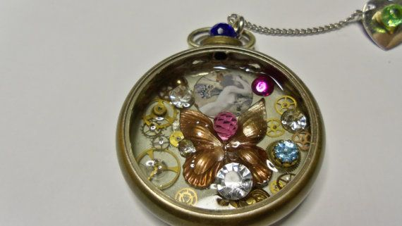 Pocket Watch Pin or Pendant by Spiritracer on Etsy, $14.00