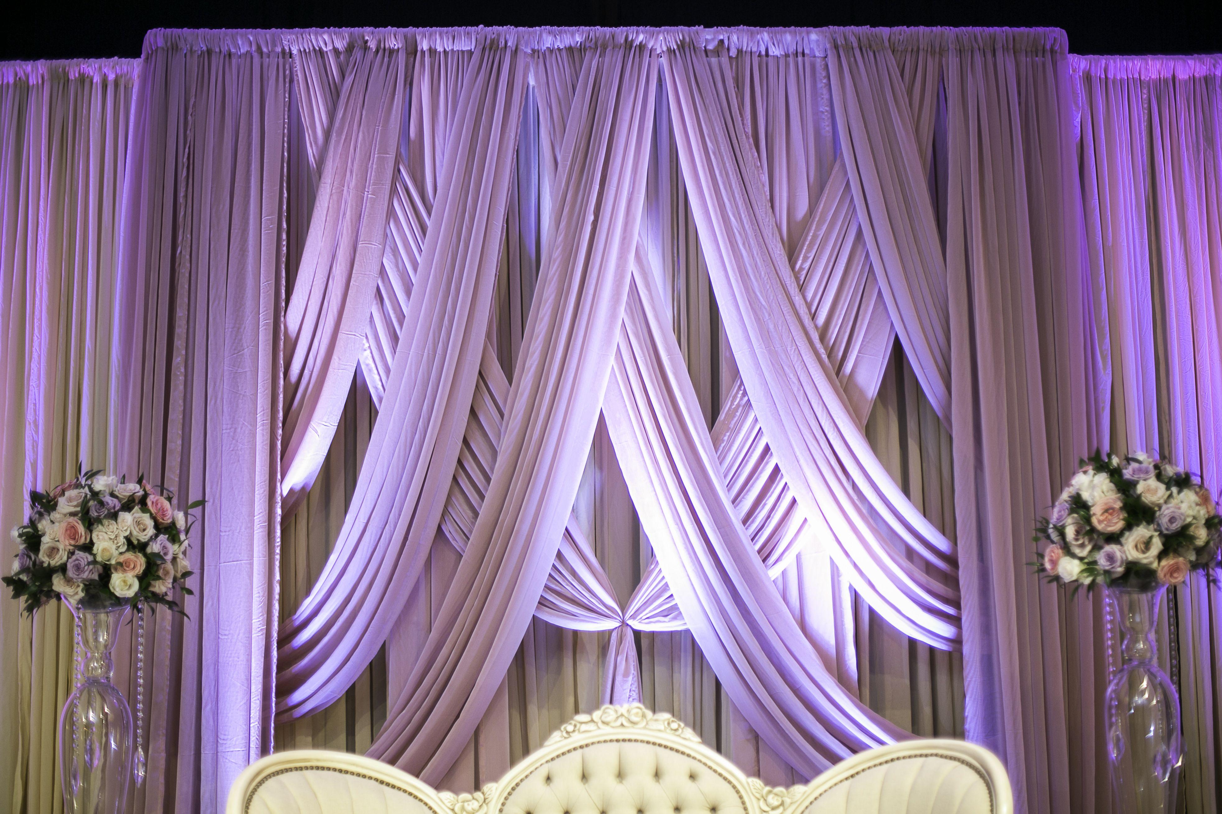 Intricate dusty rose draping sarahkhaneventstyling skes for Licenciatura en decoracion de interiores