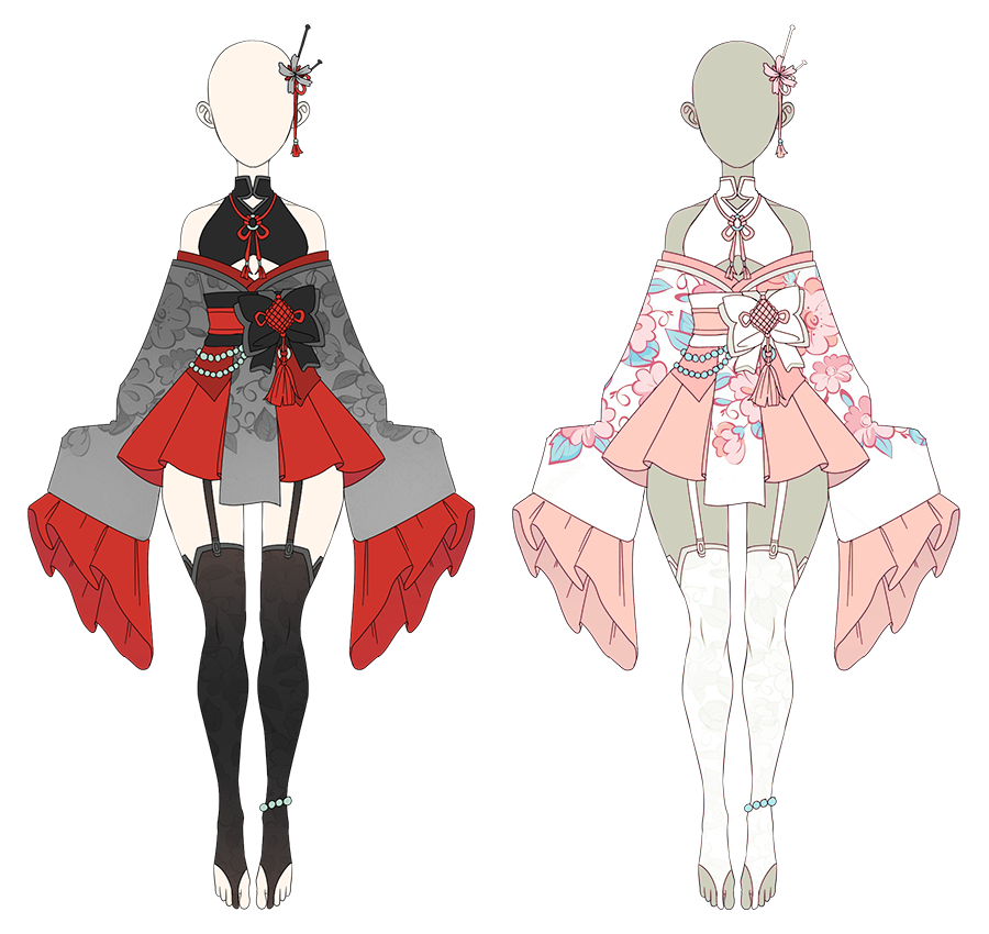 Outfit Kimono Auction Closed By Kyunn Adoptable In 2020 Manga Clothes Fashion Design Drawings Drawing Anime Clothes