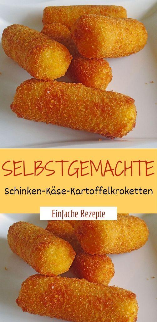 Selbstgemachte Schinken-Käse-Kartoffelkroketten  #airfryerrecipes