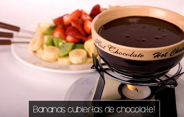 Bananas cubiertas de chocolate! ~ Chic & Natural