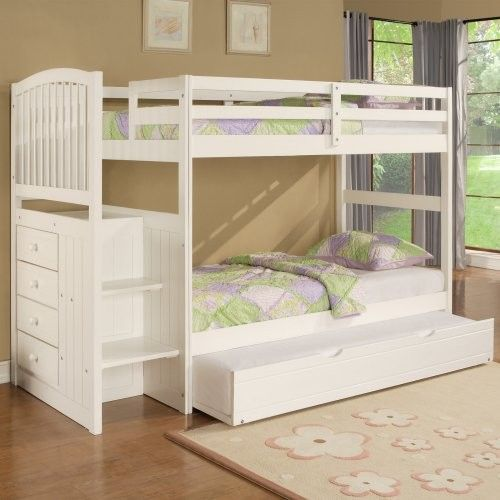 Bunk Beds With Storage Underneath Kids Bunk Beds Girls Bunk