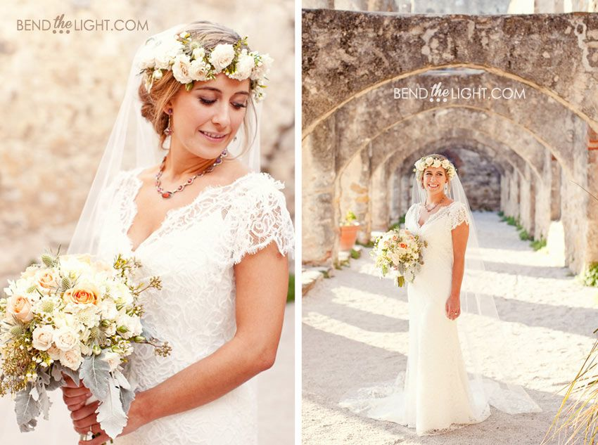 Christies Bridal Portraits At Mission San Jose
