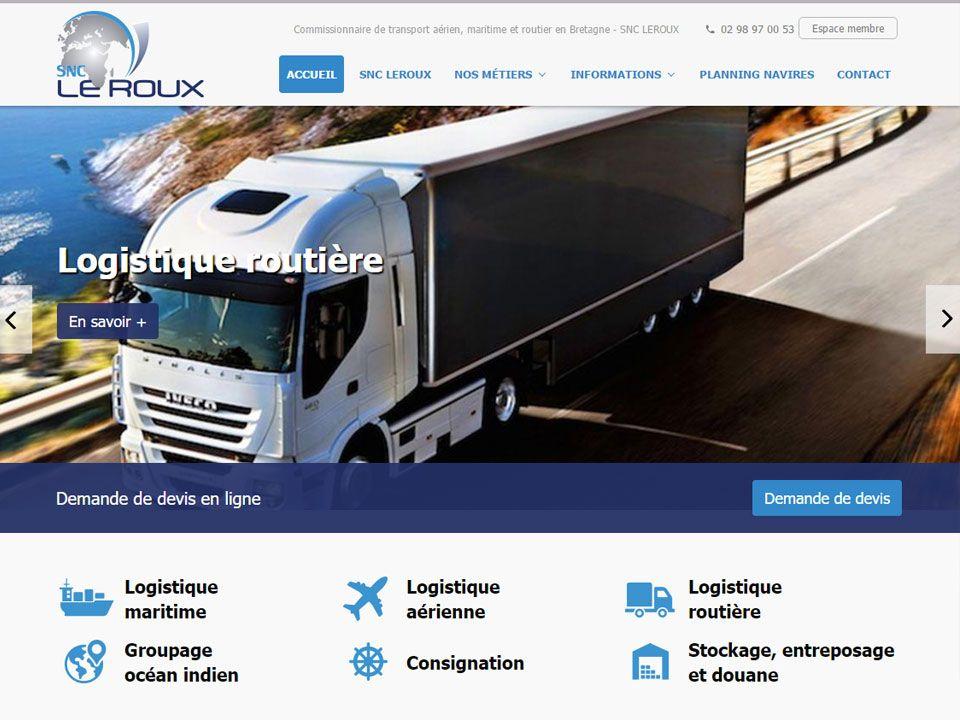Logistique aérienne, maritime et routière en Bretagne - SNC LEROUX