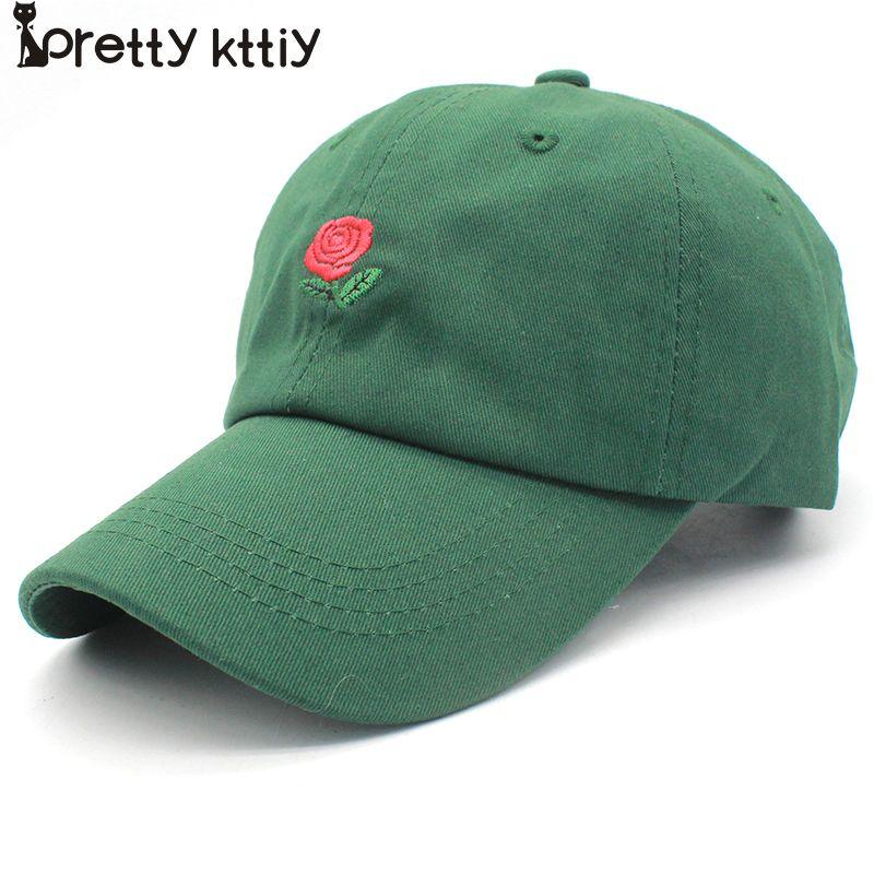 Aliexpress.com  Comprar New rose sombrero de papá drake sanpback flor del  bordado del verano curva verano snapback gorras de béisbol hombres de las  mujeres ... a3ca3f26ddd