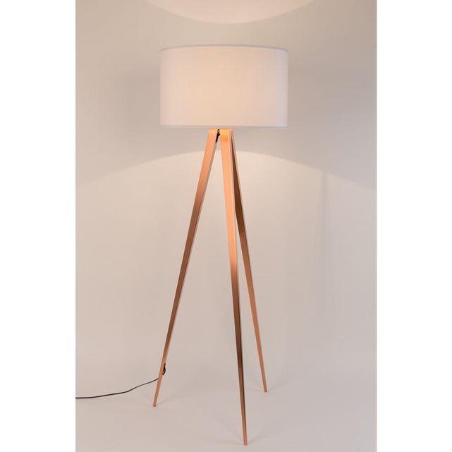 Zuiver Lampadaire Design Tripod Copper Deco Zuiver Blanc La Redoute Lampadaire Lampadaire Design Lampe Trepied