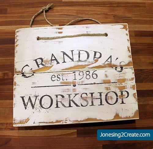 a033ca1e849d2 Grandpa's Workshop sign | Crafts | Homemade christmas presents ...