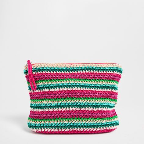 35 90 Multicolored Crocheted Toiletry Bag Accessories