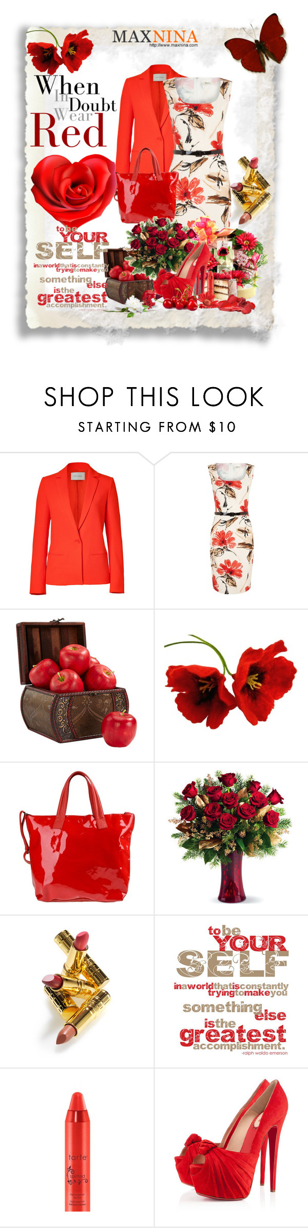 """""""miwow"""" by novac-georgiana ❤ liked on Polyvore featuring Cédric Charlier, Precis Petite, Mother, Nearly Natural, C'N'C, Elizabeth Arden, tarte and Christian Louboutin"""