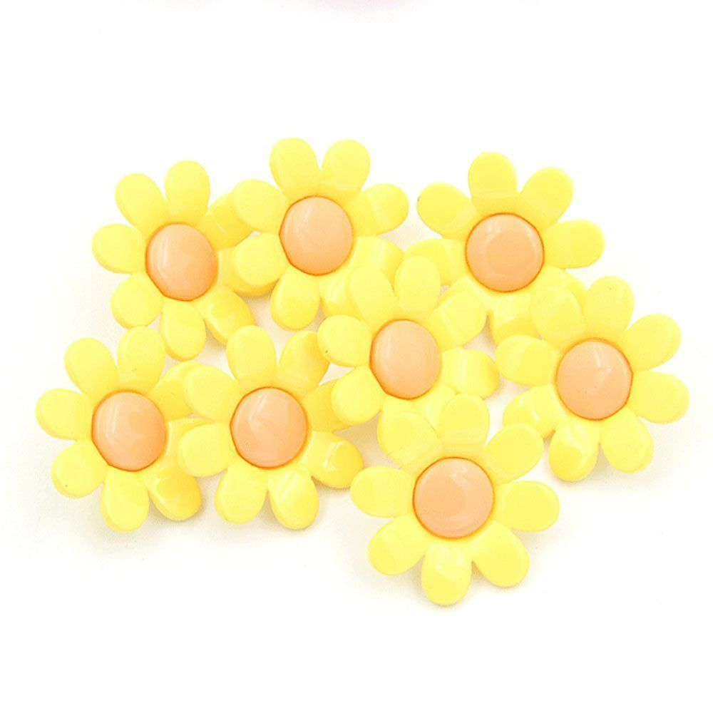 Urchart pcs mm cute flower plastic buttons for kids clothing diy