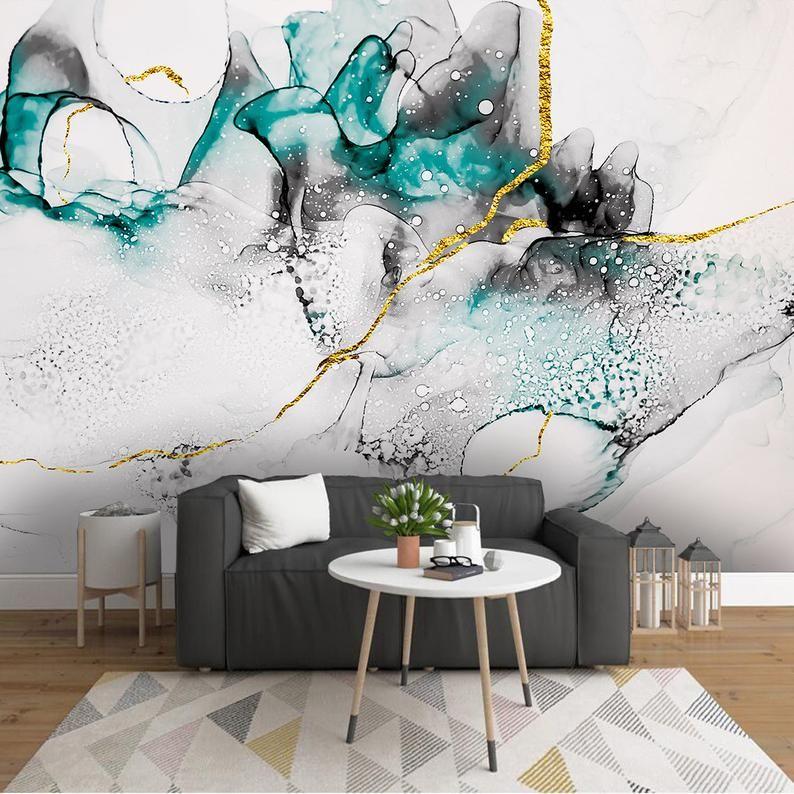 Watercolor Wallpaper Peel And Stick Wallpaper Self Adhesive Etsy Watercolor Wallpaper Wallpaper Abstract Wallpaper