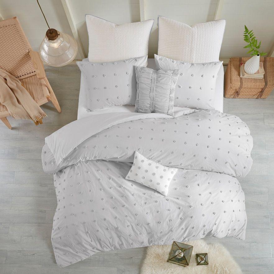 Madison Park Maize Cotton Jacquard Duvet Cover Set Comforter Sets Cotton Bedding Sets Duvet Cover Sets