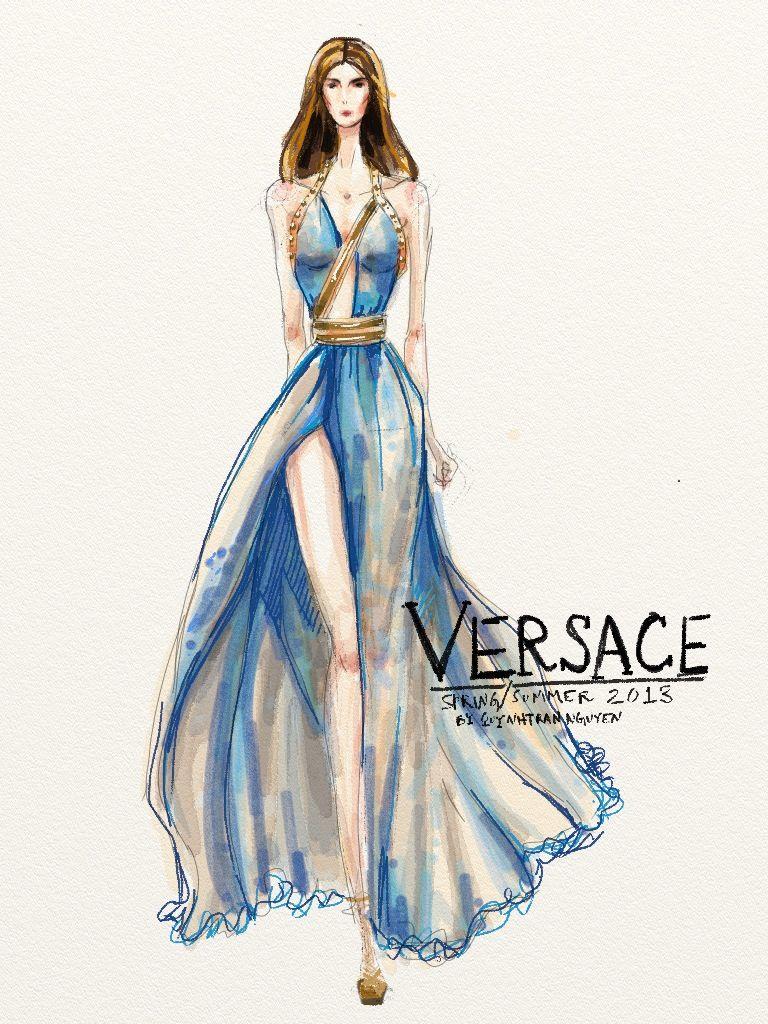 Atelier Versace Couture Sketch - Поиск в Google   Moda ...